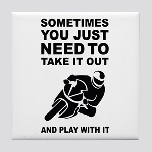 Take It Out And Play With It Tile Coaster