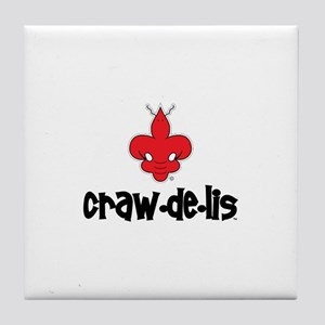 The ORIGINAL craw-de-lis Tile Coaster