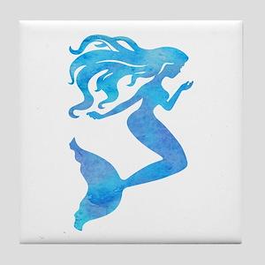 Watercolor Mermaid Tile Coaster