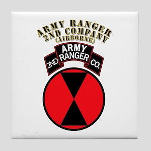 SOF - Army Ranger - 2nd Company Tile Coaster