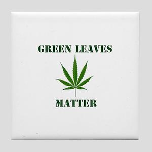 Green Leaves Matter Tile Coaster
