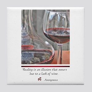 Wine Lover Mom Tile Coaster