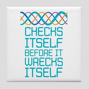 DNA Checks Itself Tile Coaster