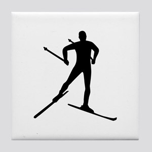 Cross-country skiing Tile Coaster