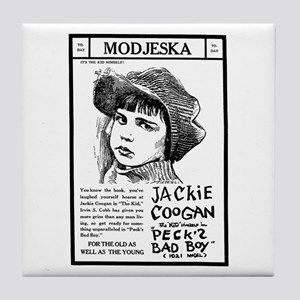 Jackie Coogan Pecks Bad Boy Tile Coaster