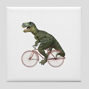 Cycling Tyrannosaurus Rex Tile Coaster