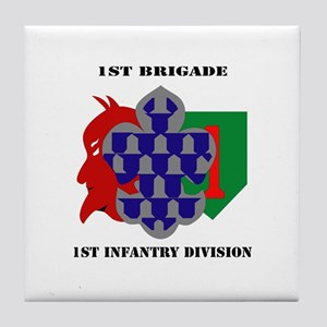 1st Brigade, 1st Infantry Division with Text Tile