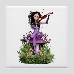 Amethyst Fairy ~ Summer Melody Tile Coaster