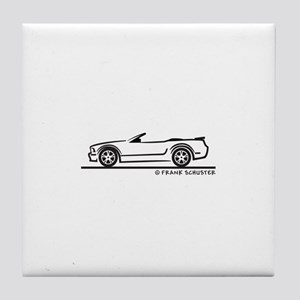 Ford GT Mustang Convertible Tile Coaster