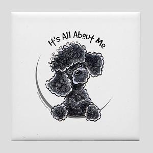 Black Poodle Lover Tile Coaster