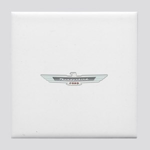 Ford Thunderbird Emblem Chrome Tile Coaster