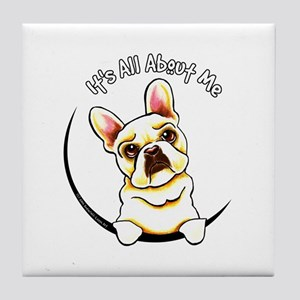 Fawn Frenchie IAAM Tile Coaster