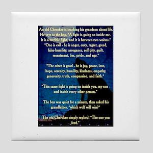 CHEROKEE LESSON Tile Coaster