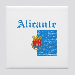 Alicante flag designs Tile Coaster