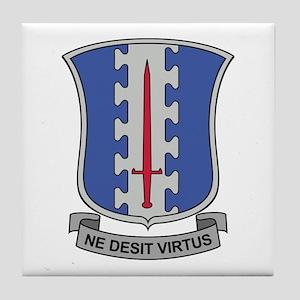 187th Infantry Regt DUI Tile Coaster