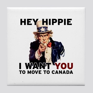Hey Hippie Tile Coaster