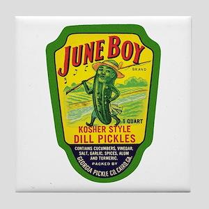 June Boy Pickles Tile Coaster