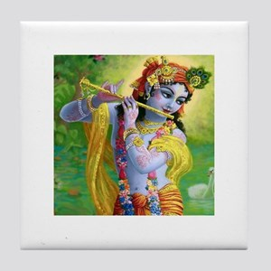 I Love you Krishna. Tile Coaster