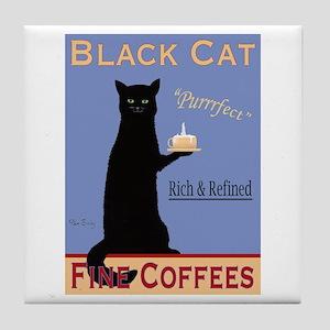Black Cat Coffee Tile Coaster