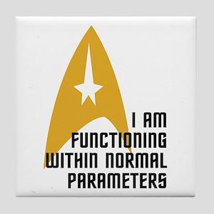 Star Trek - Normal Parameters Tile Coaster