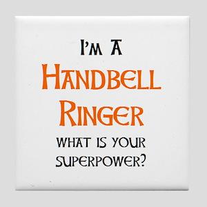 handbell ringer Tile Coaster