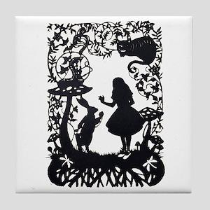 Alice in Wonderland Silhouette Tile Coaster