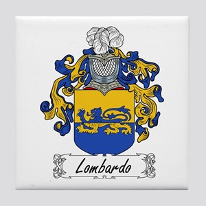 Lombardo Family Crest Tile Coaster