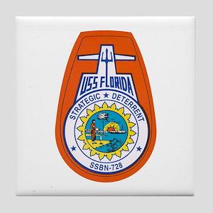 USS Florida SSGN-728 Tile Coaster