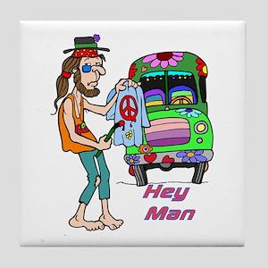 Hey Man- Hippie & Van Tile Coaster