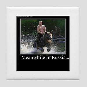 Vladimir Putin Riding A Bear Tile Coaster
