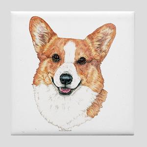 Pembroke Welsh Corgi Portrait Tile Coaster