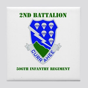DUI - 2nd Bn - 506th Infantry Regt with Text Tile