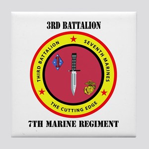 2nd Battalion 7th Marines Tile Coaster