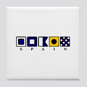 Nautical Spain Tile Coaster