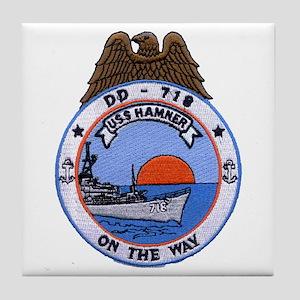 USS HAMNER Tile Coaster