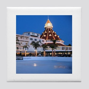 Hotel Del Holiday Tile Coaster