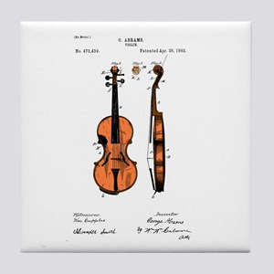 Fiddle (Full) Patent Tile Coaster
