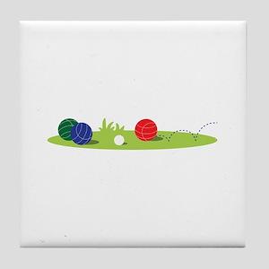 Bocce Ball Game Tile Coaster