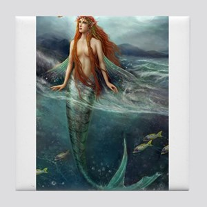 Mermaid of Coral Sea Tile Coaster
