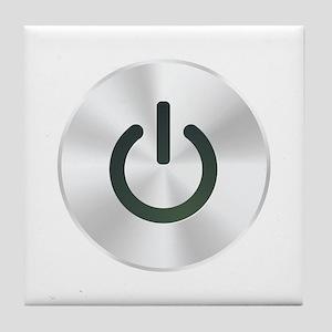 Power Button Tile Coaster