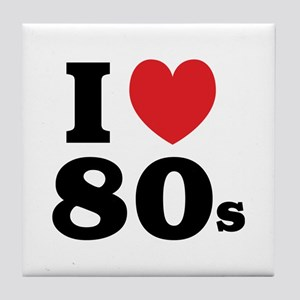 I Heart 80s Tile Coaster