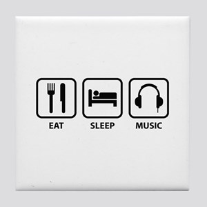 Eat Sleep Music Tile Coaster