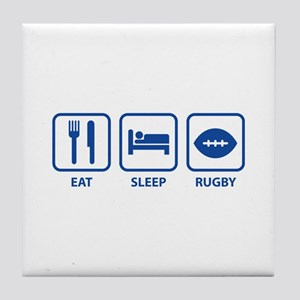Eat Sleep Rugby Tile Coaster