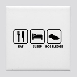Eat Sleep Bobsledge Tile Coaster