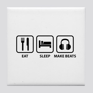 Eat Sleep Make Beats Tile Coaster
