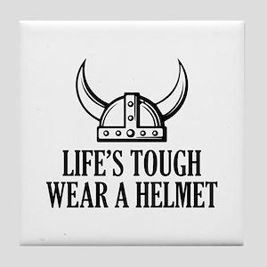 Wear A Helmet Tile Coaster
