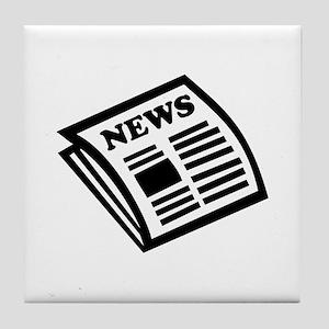 Newspaper Tile Coaster