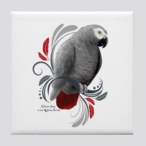 African Grey Tile Coaster