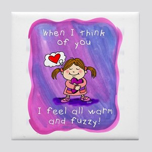 When I Think of You Tile Coaster