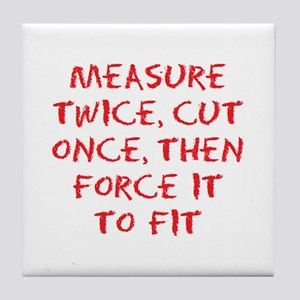 measure force Tile Coaster